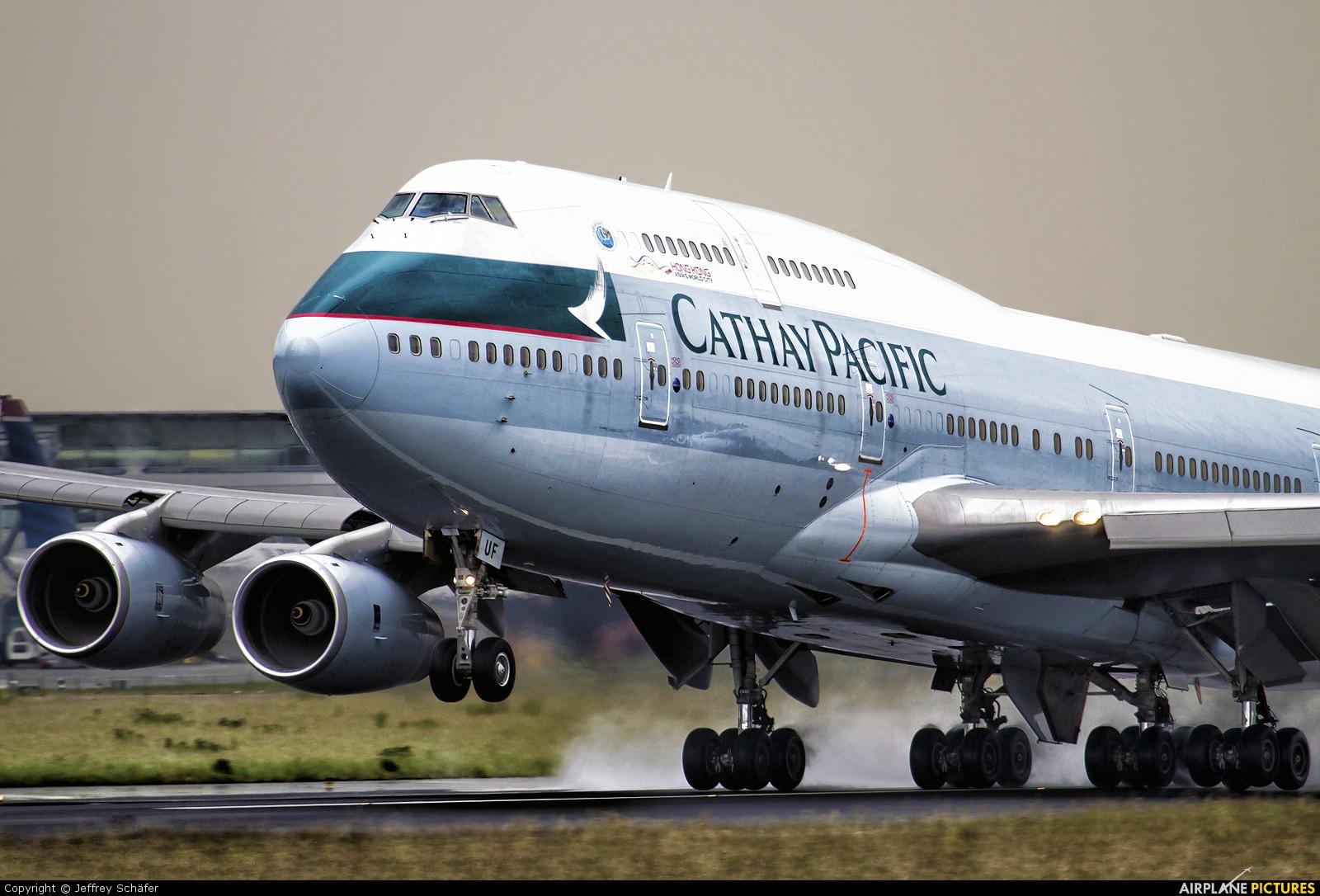 Cathay Pacific B-HUF aircraft at Amsterdam - Schiphol