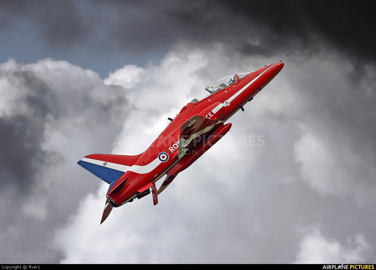 "Royal Air Force ""Red Arrows"" XX319 aircraft at Duxford"