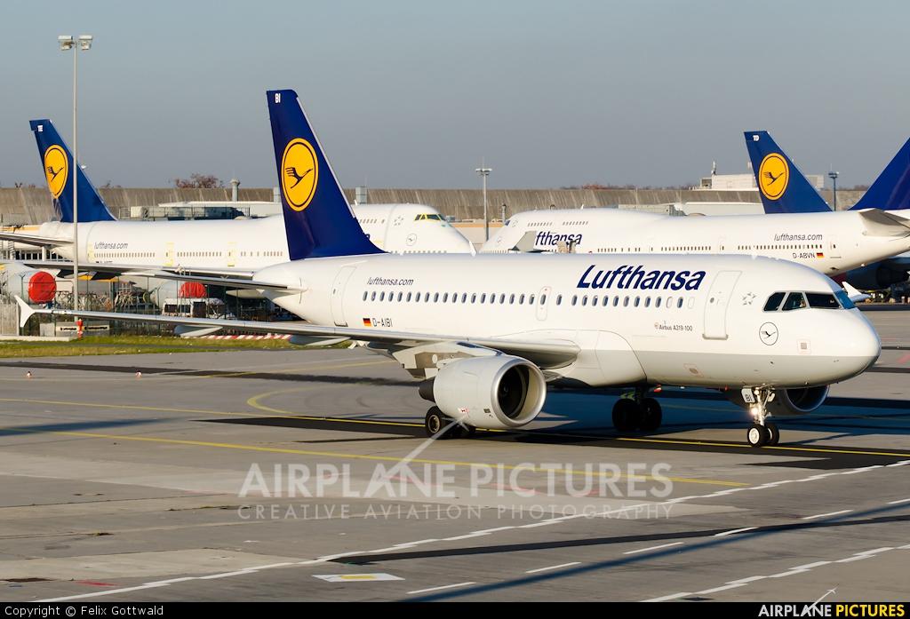 Lufthansa D-AIBI aircraft at Frankfurt
