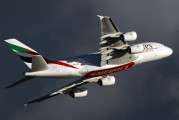 A6-EDS - Emirates Airlines Airbus A380 aircraft