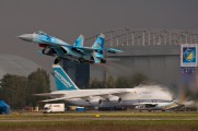 100 BLUE - Ukraine - Air Force Sukhoi Su-27 aircraft