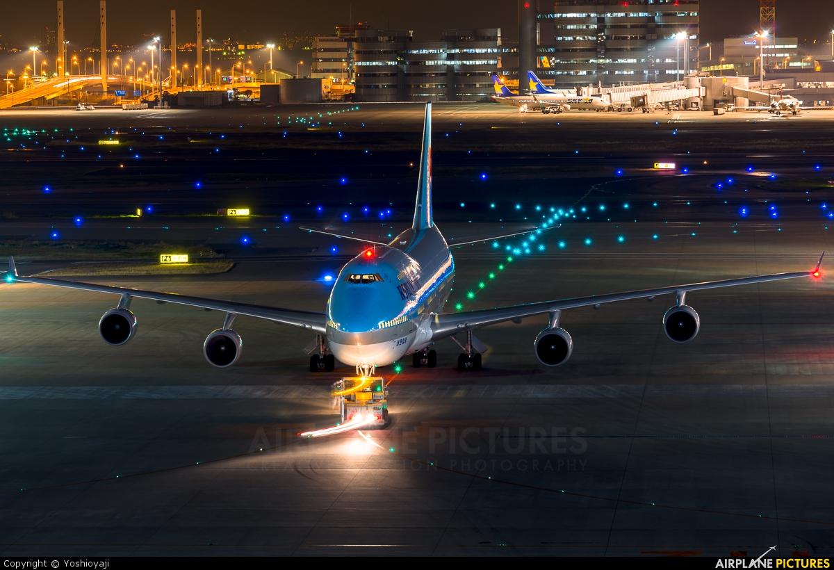 Korean Air HL7489 aircraft at Tokyo - Haneda Intl