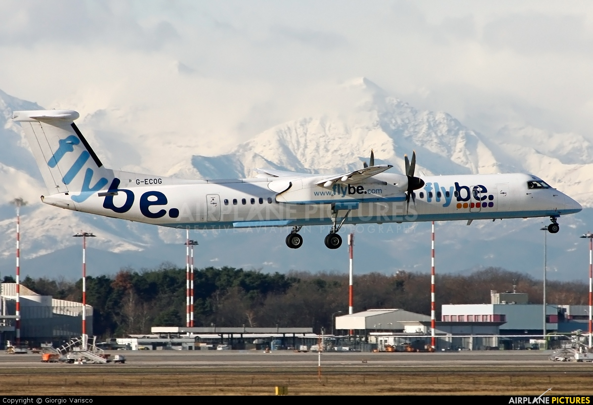 Flybe G-ECOG aircraft at Milan - Malpensa