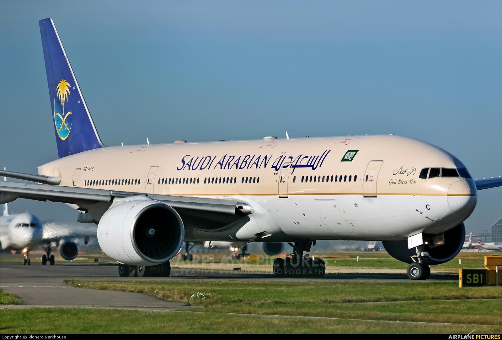 Saudi Arabian Airlines HZ-AKC aircraft at London - Heathrow