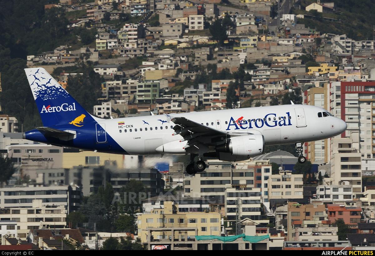 Aerogal HC-CKN aircraft at Quito - Mariscal Sucre