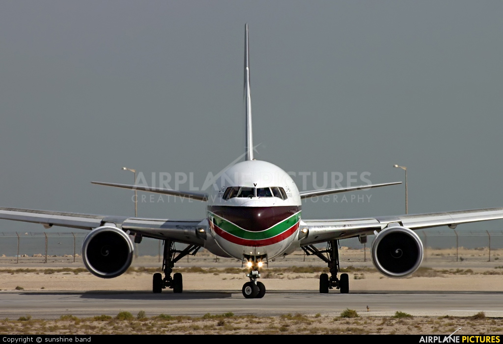 Gulf Traveller A40-GV aircraft at Bahrain Intl