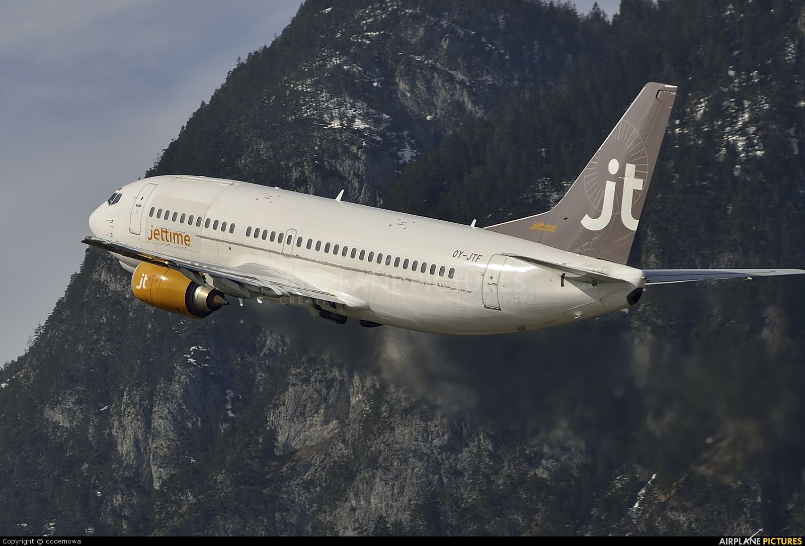 Jet Time OY-JTF aircraft at Innsbruck