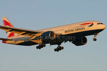 G-VIIR - British Airways Boeing 777-200