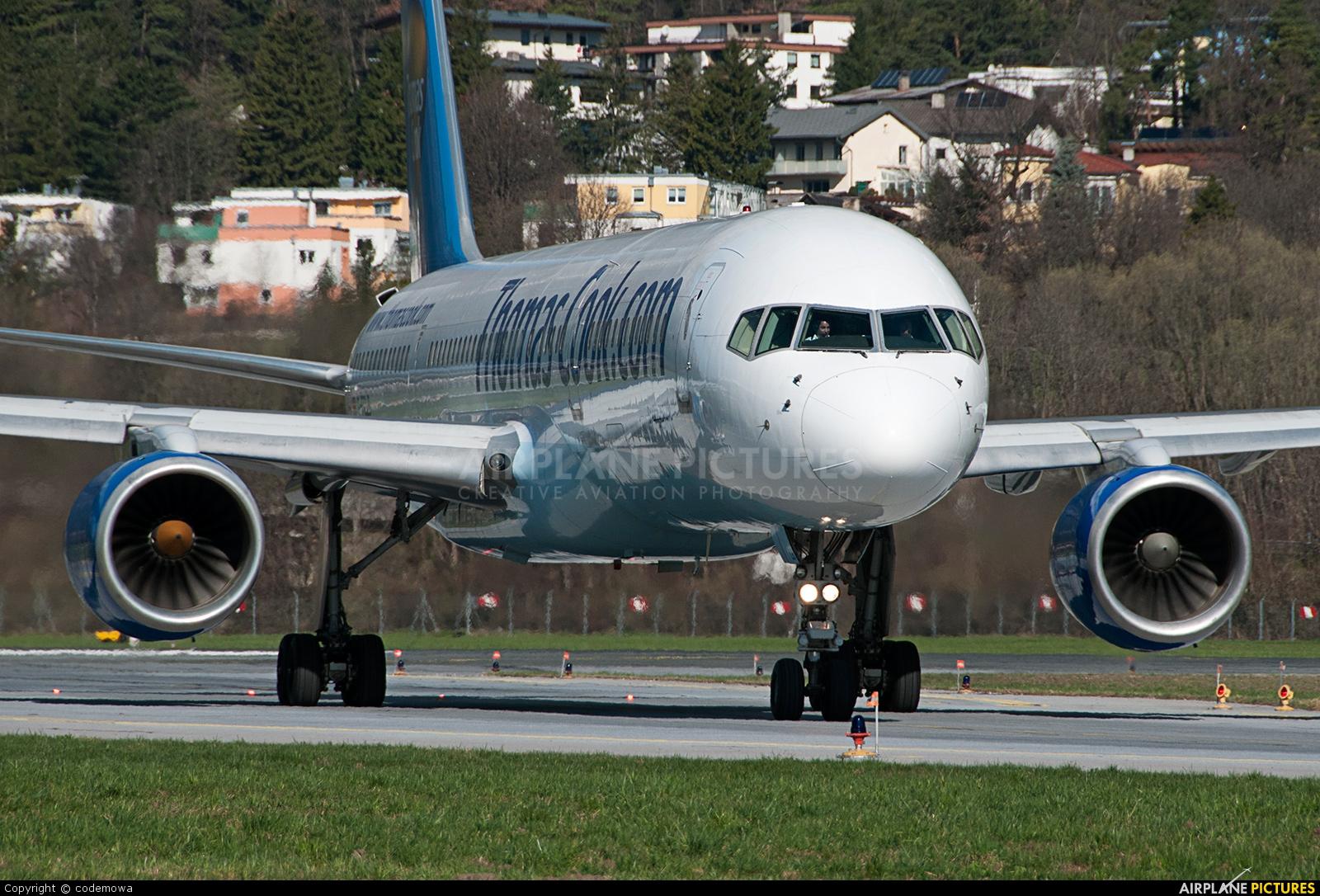 Thomas Cook G-FCLB aircraft at Innsbruck