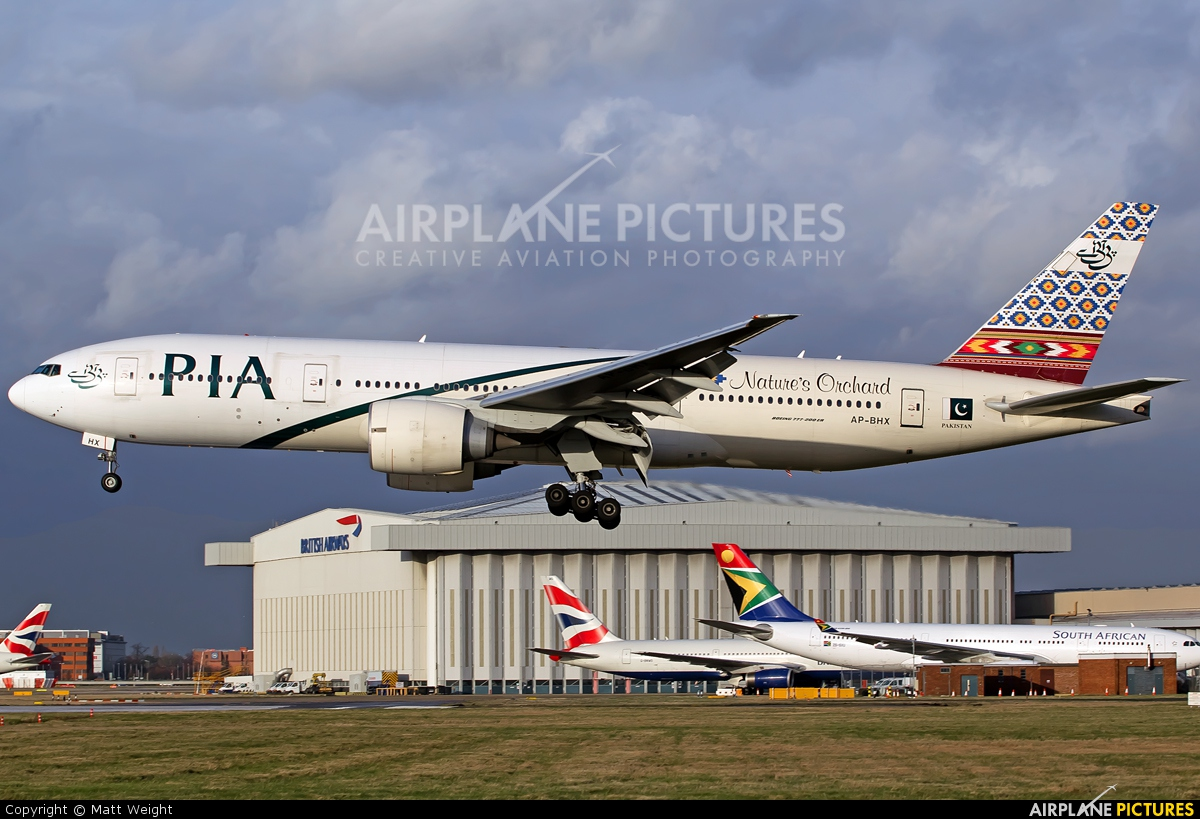 PIA - Pakistan International Airlines AP-BHX aircraft at London - Heathrow