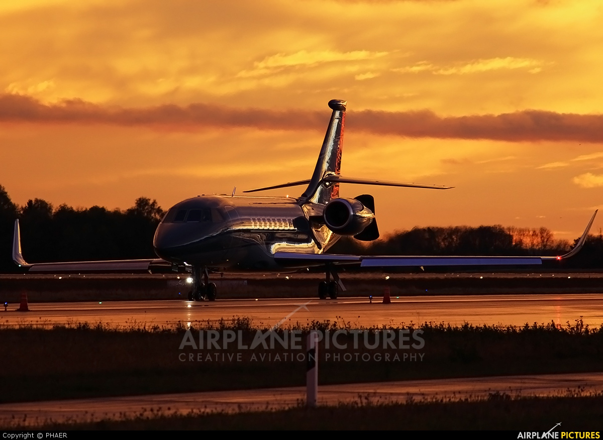 Global Jet Luxembourg LX-EVM aircraft at Luxembourg - Findel