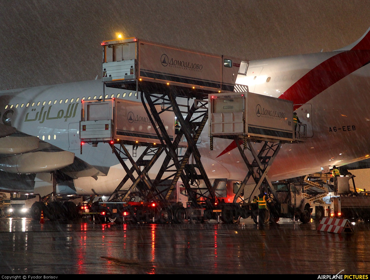 Emirates Airlines A6-EEB aircraft at Moscow - Domodedovo