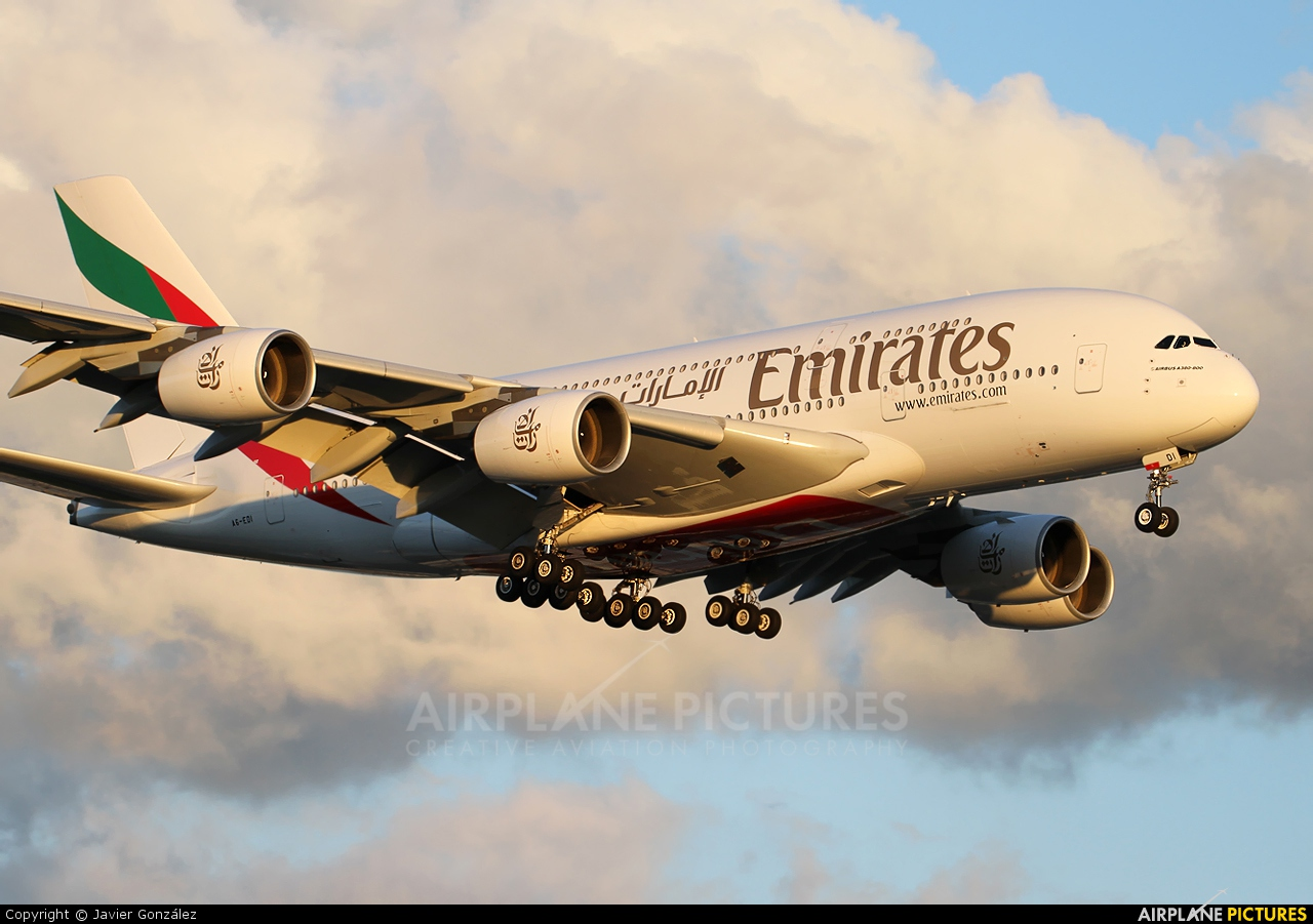 Emirates Airlines A6-EDI aircraft at London - Heathrow