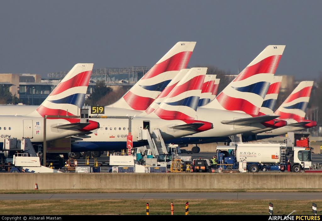 British Airways G-EUPZ aircraft at London - Heathrow