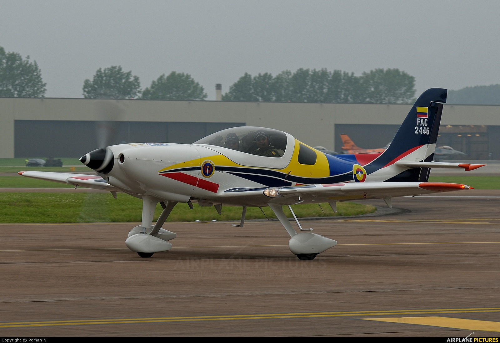 Colombia - Air Force FAC2446 aircraft at Fairford