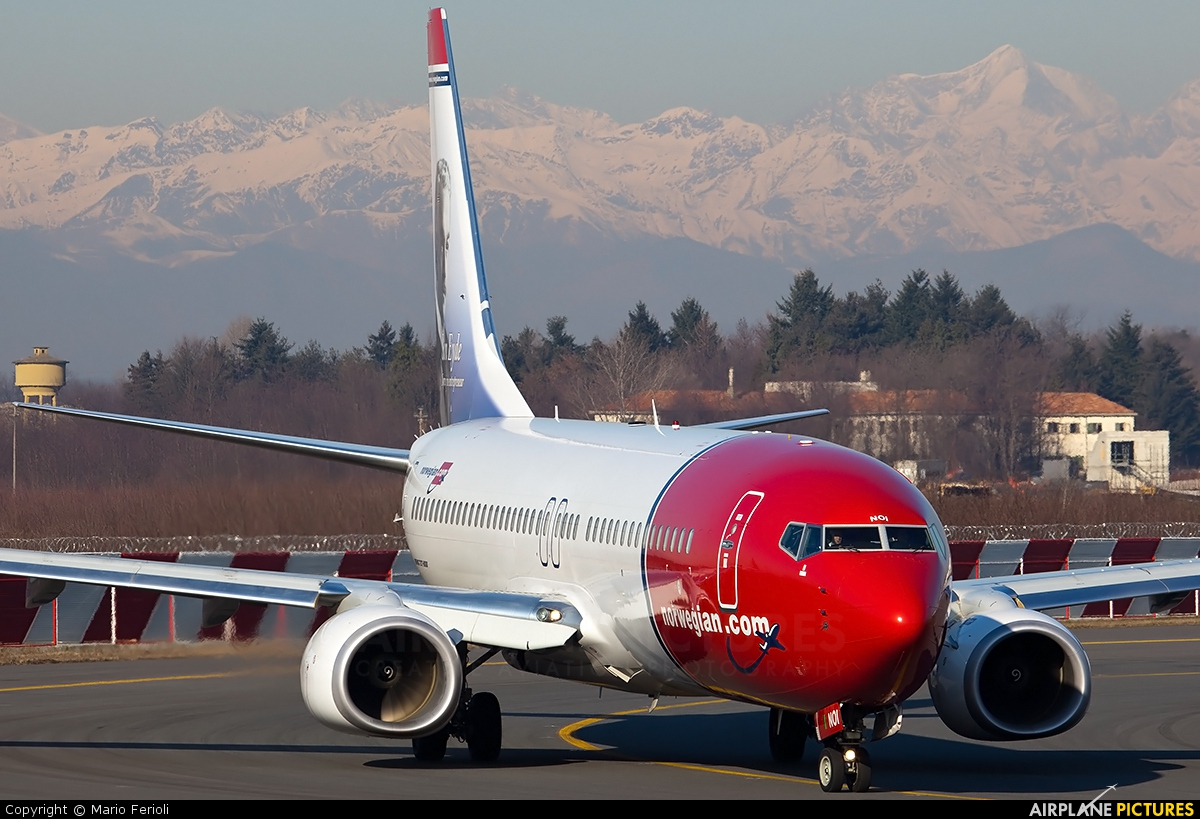 Norwegian Air Shuttle LN-NOI aircraft at Milan - Malpensa