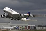 F-WWSH - Lufthansa Airbus A380 aircraft
