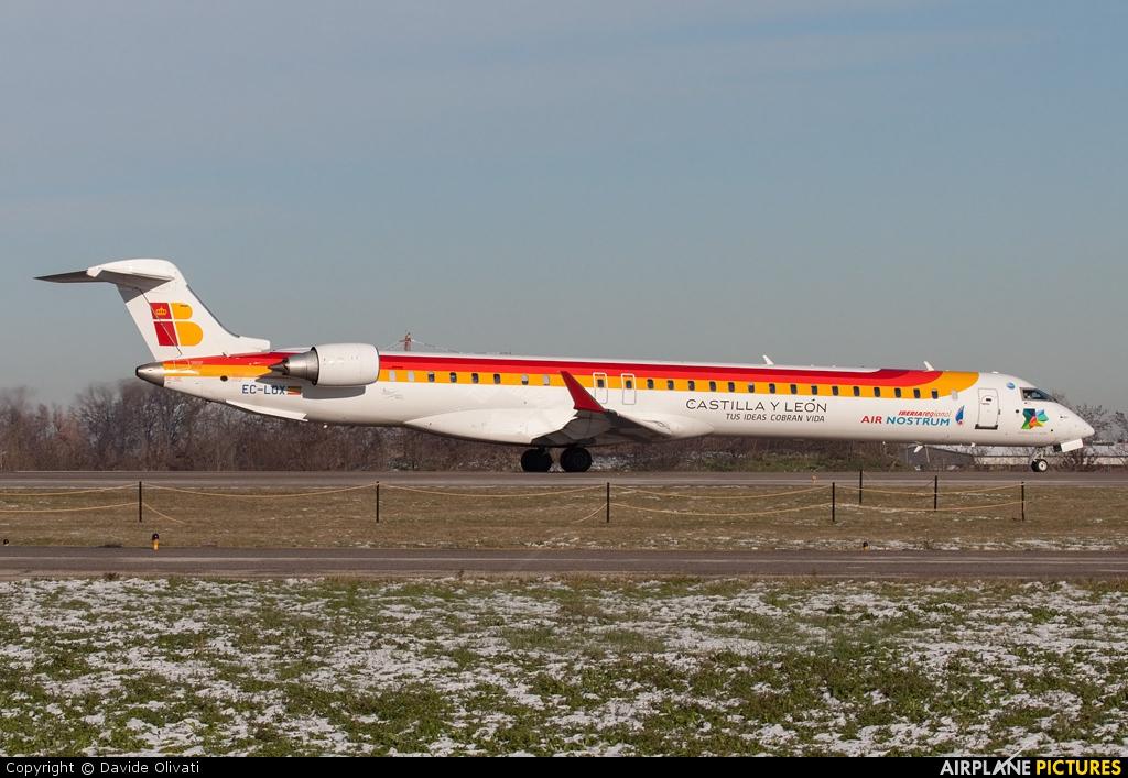 Air Nostrum - Iberia Regional EC-LOX aircraft at Bologna - Borgo Panigale