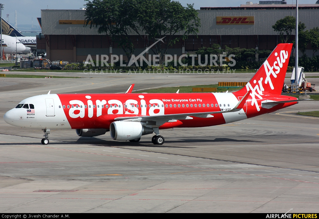 AirAsia (Malaysia) 9M-AQQ aircraft at Singapore - Changi