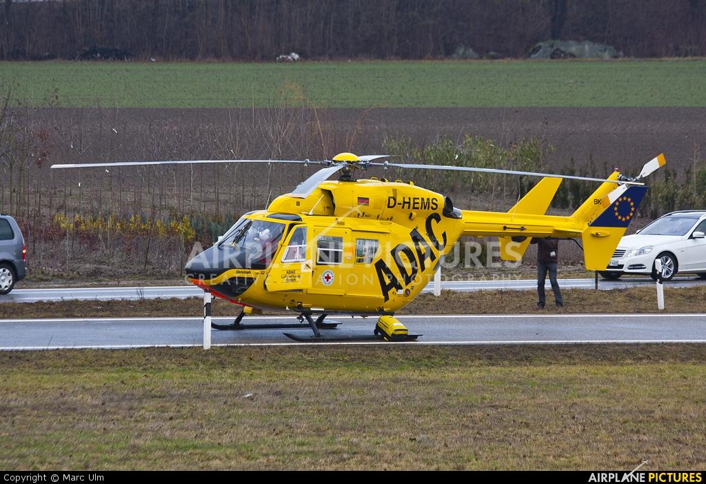 ADAC Luftrettung D-HEMS aircraft at Donauwörth - Genderkingen