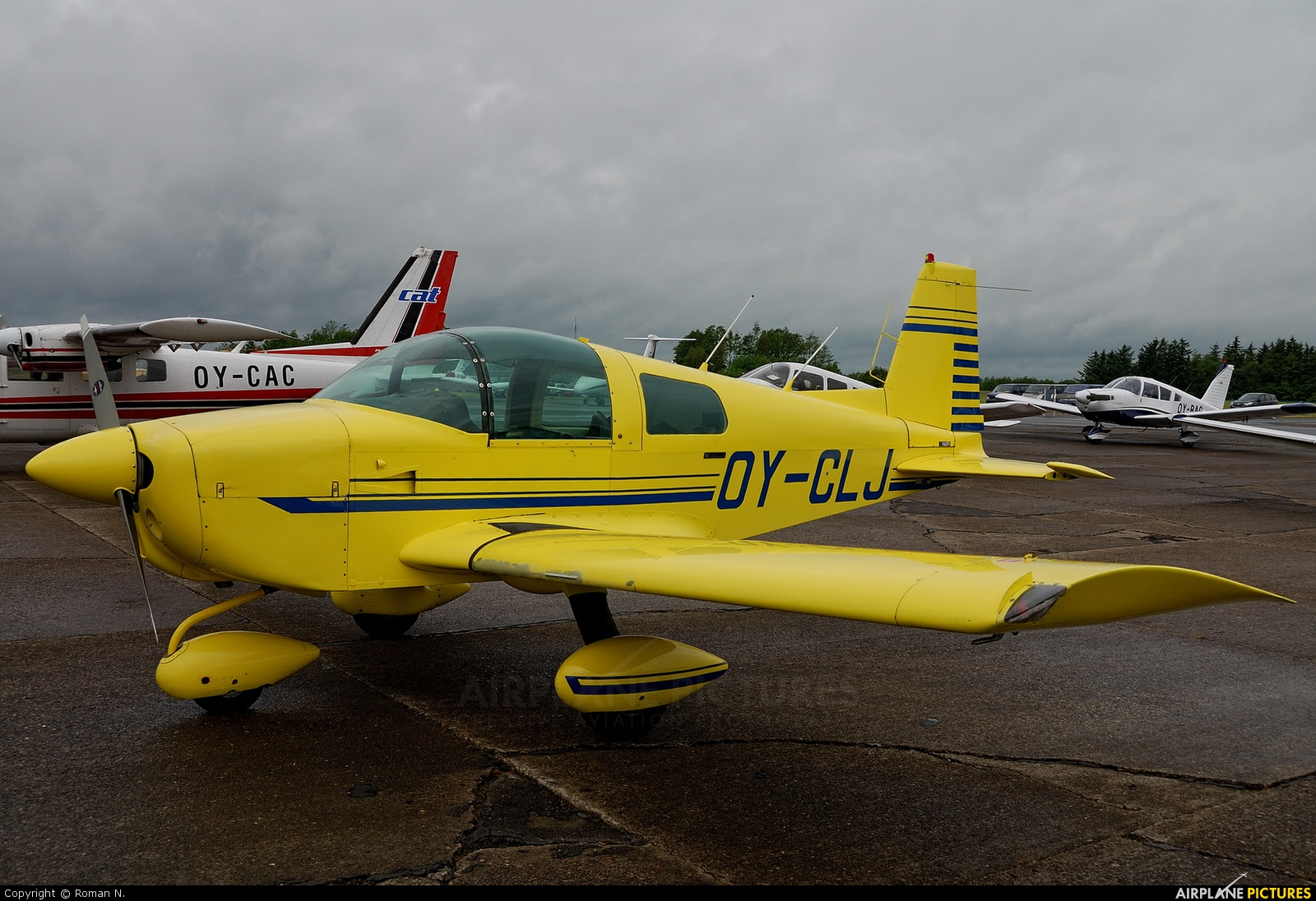 Private OY-CLJ aircraft at Aalborg