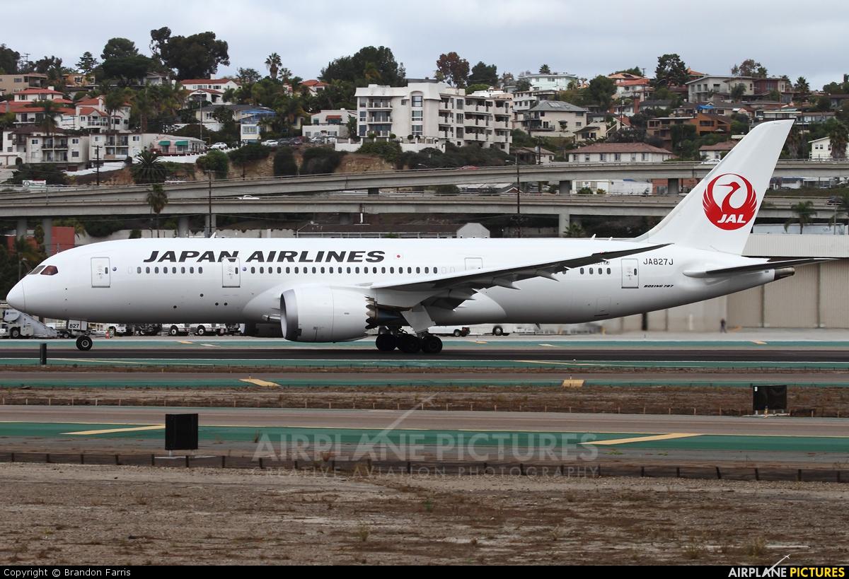 JAL - Japan Airlines JA827J aircraft at San Diego - Lindbergh Field
