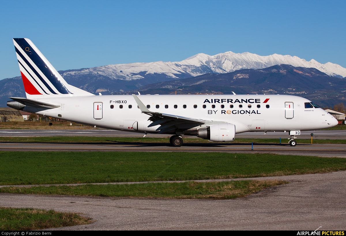 Air France - Regional F-HBXO aircraft at Verona - Villafranca