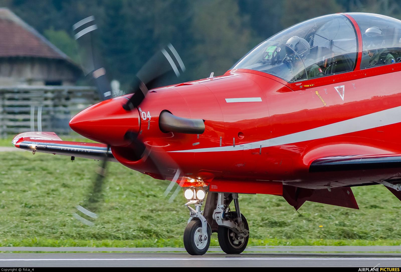 Switzerland - Air Force A-104 aircraft at Meiringen