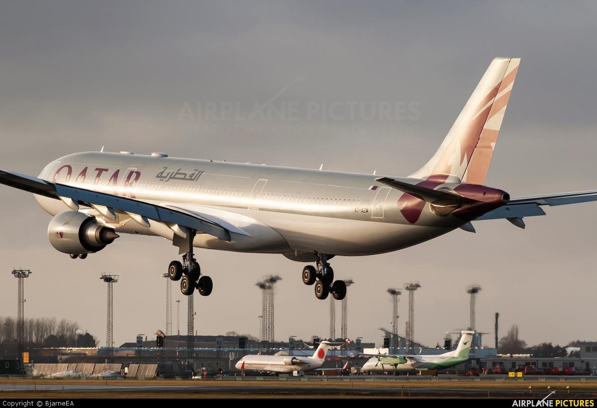 Qatar Airways A7-AEM aircraft at Copenhagen Kastrup