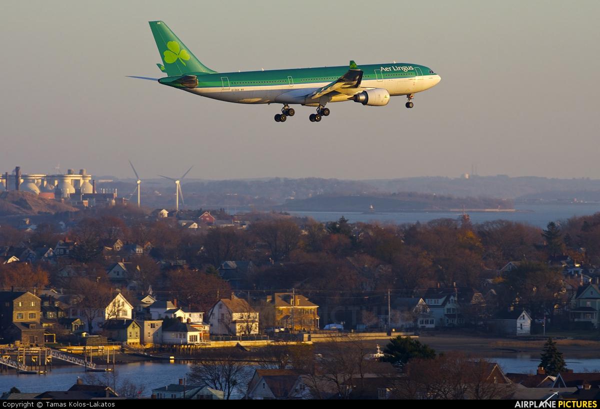 Aer Lingus EI-DAA aircraft at Boston - General Edward Lawrence Logan Intl