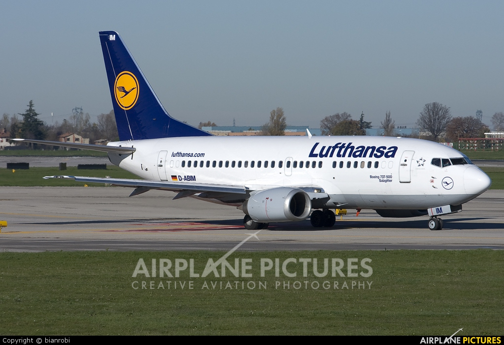 Lufthansa D-ABIM aircraft at Bologna - Borgo Panigale