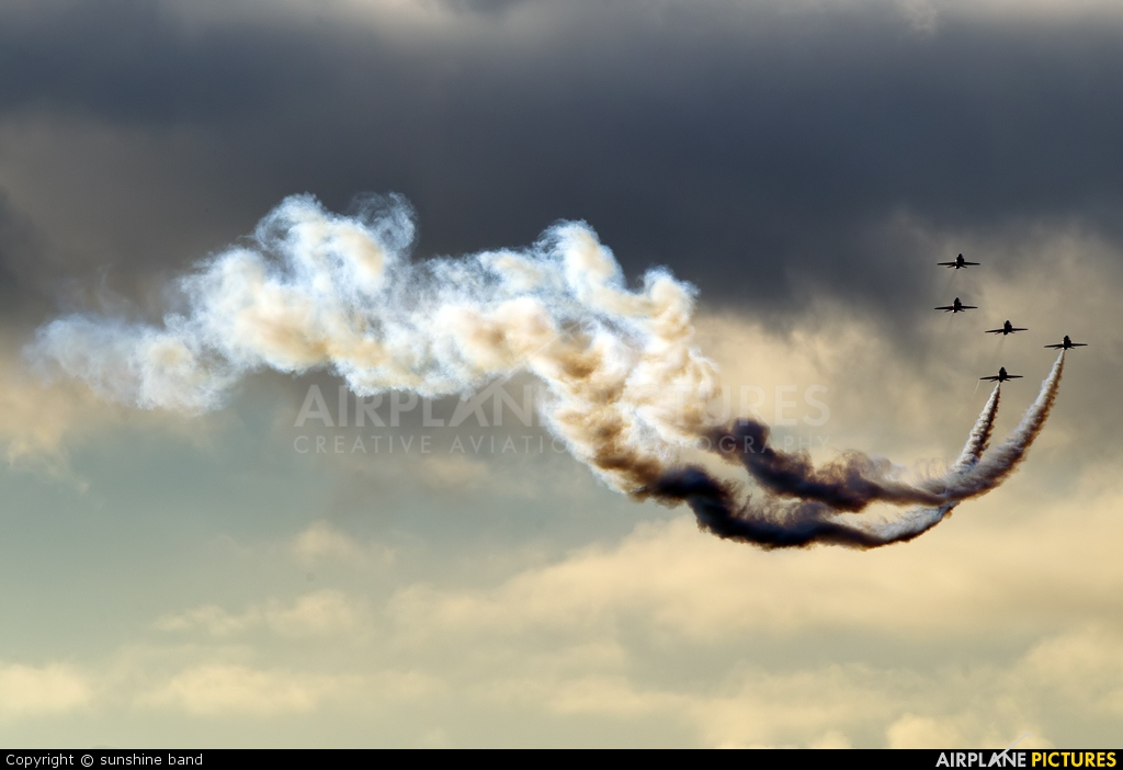 "Royal Air Force ""Red Arrows"" XX322 aircraft at Scampton"