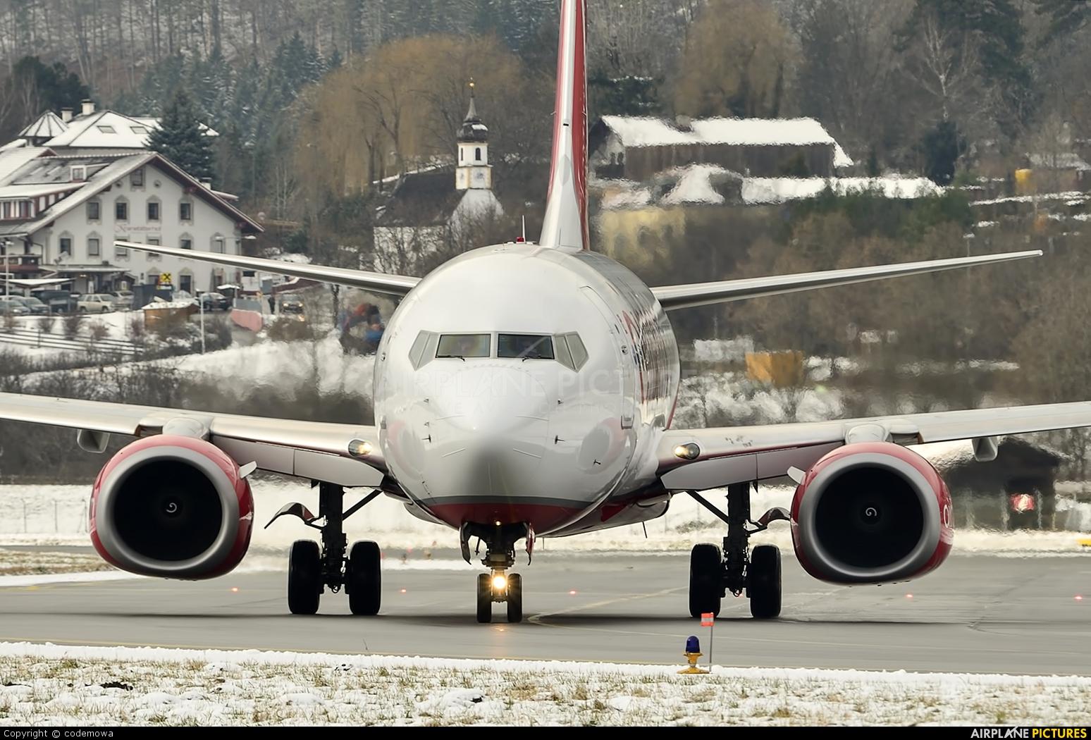 Air Berlin D-ABLC aircraft at Innsbruck