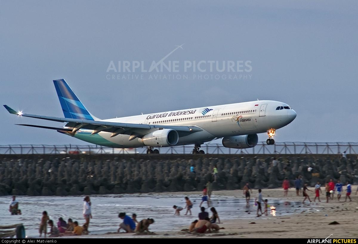 Garuda Indonesia PK-GPD aircraft at Denpasar- Ngurah Rai Intl