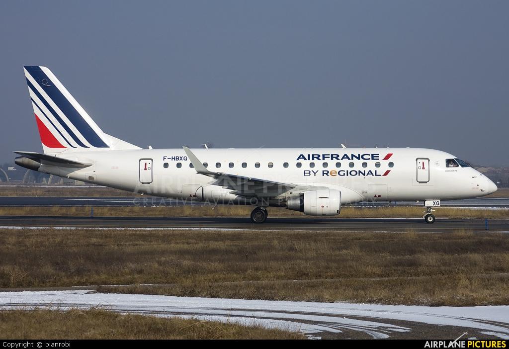 Air France - Regional F-HBXG aircraft at Verona - Villafranca