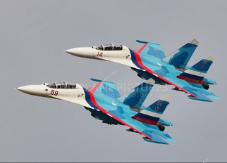 "69 - Russia - Air Force ""Falcons of Russia"" Sukhoi Su-27UB"
