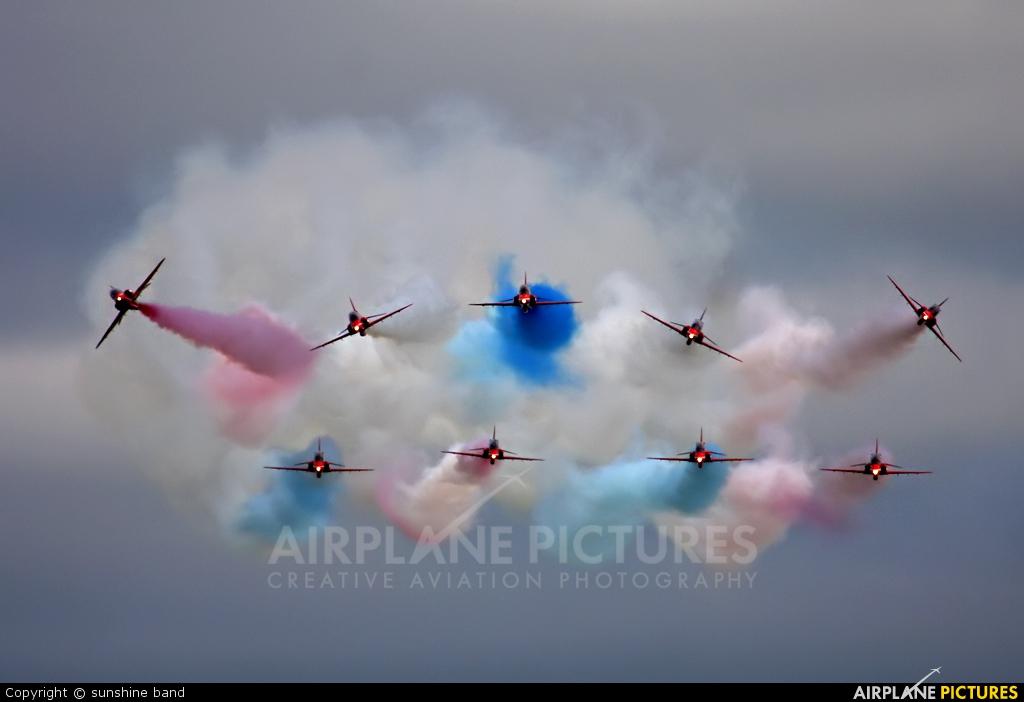 """Royal Air Force """"Red Arrows"""" XX227 aircraft at Waddington"""