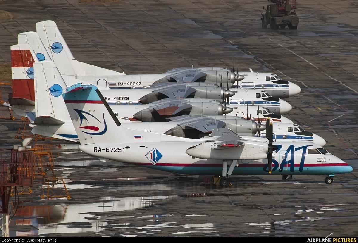 SAT Airlines RA-67251 aircraft at Khabarovsk Novy