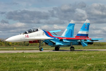 "14 - Russia - Air Force ""Falcons of Russia"" Sukhoi Su-27UB"