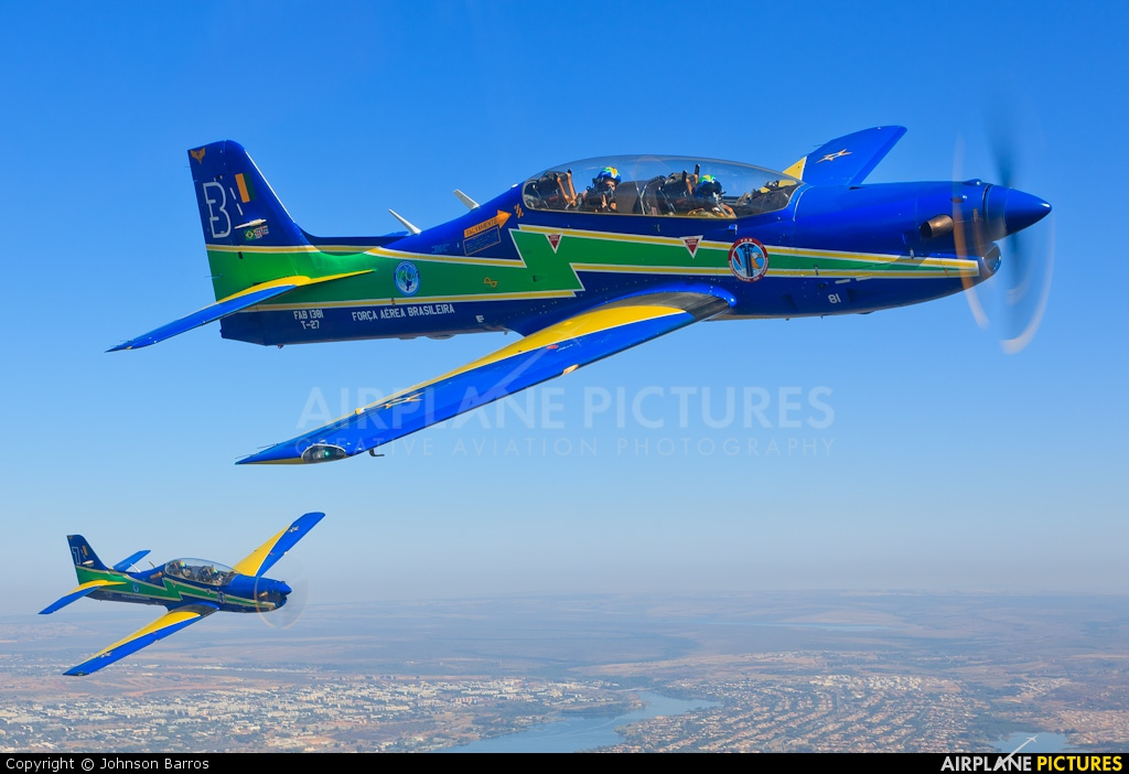 "Brazil - Air Force ""Esquadrilha da Fumaça"" 1381 aircraft at In Flight - Brazil"