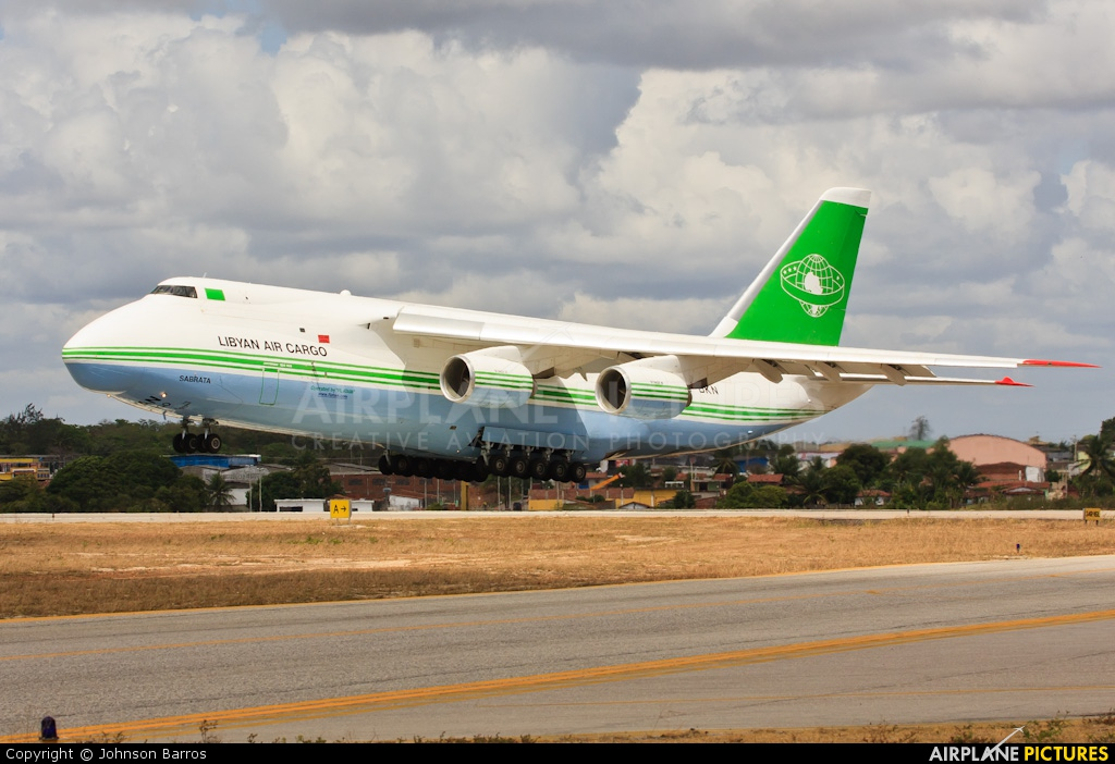 Libyan Air Cargo 5A-DKN aircraft at Natal - Augusto Severo