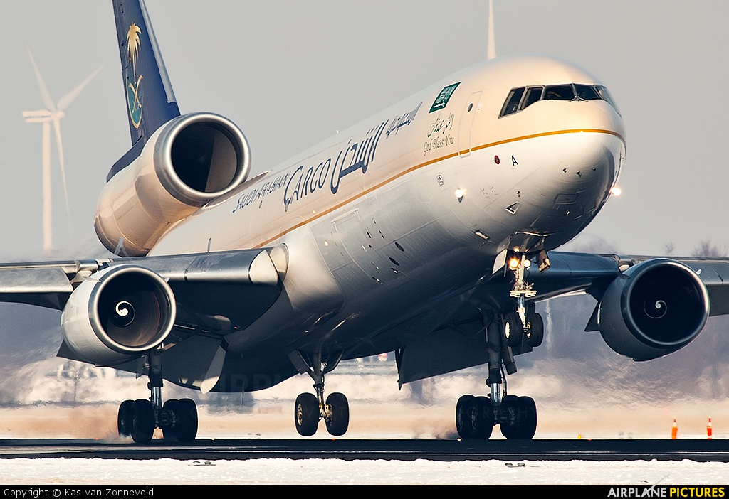 Saudi Arabian Cargo HZ-ANA aircraft at Amsterdam - Schiphol