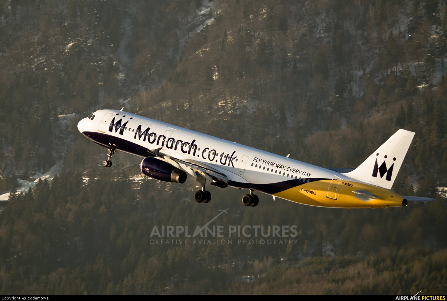 Monarch Airlines G-OJEG aircraft at Innsbruck