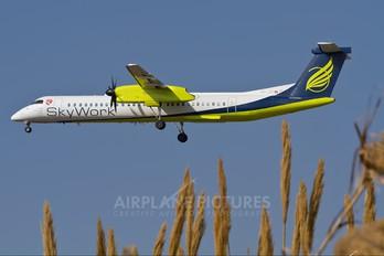 HB-JIK - Sky Work Airlines de Havilland Canada DHC-8-400Q / Bombardier Q400