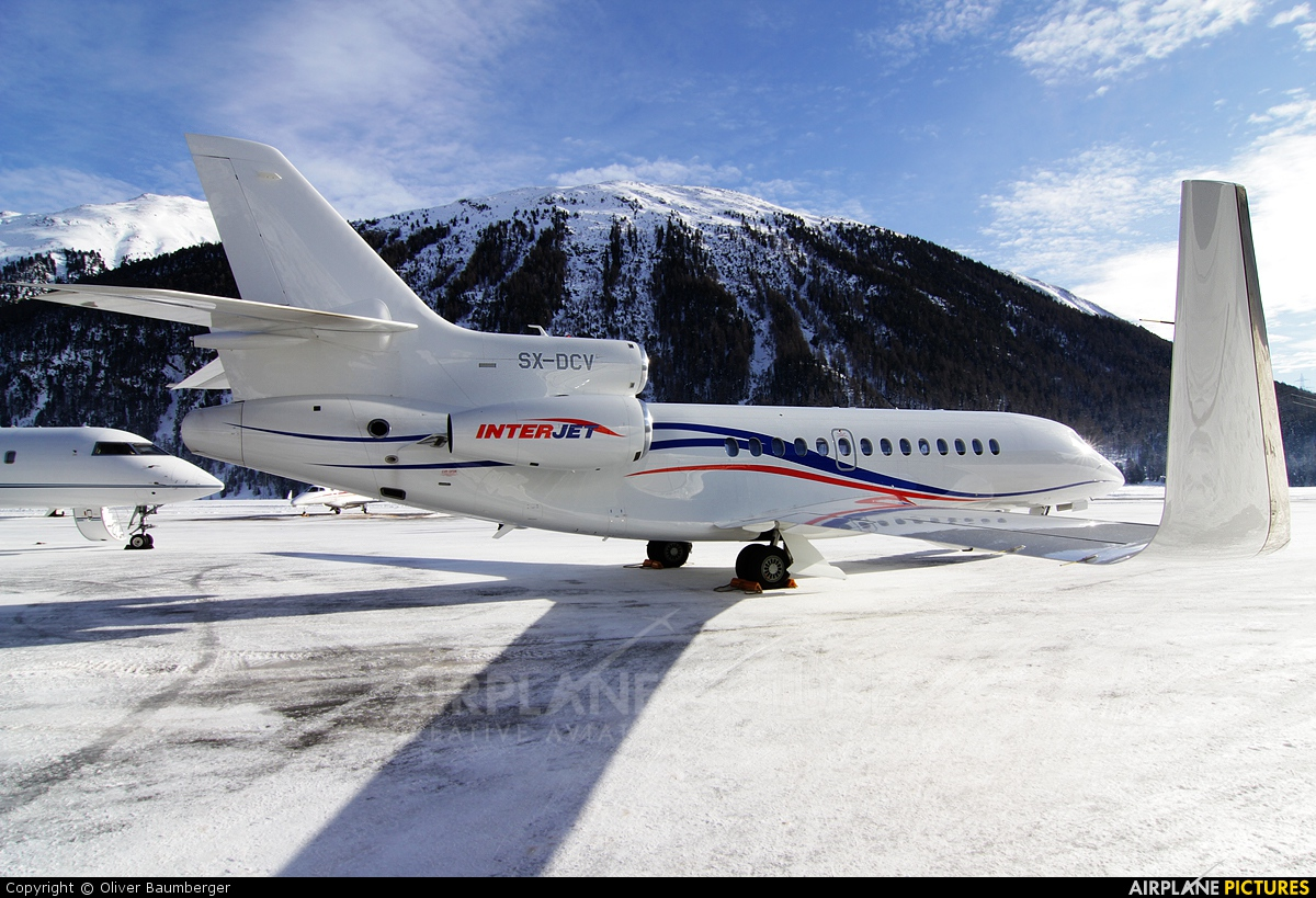 Interjet SX-DCV aircraft at Samedan - Engadin
