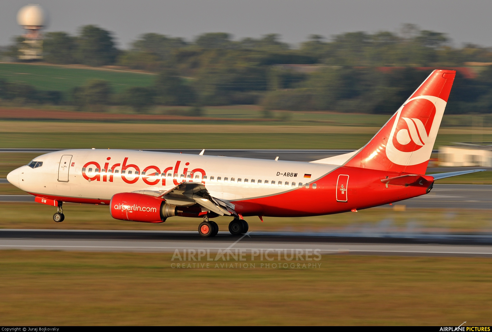 Air Berlin D-ABBW aircraft at Vienna - Schwechat