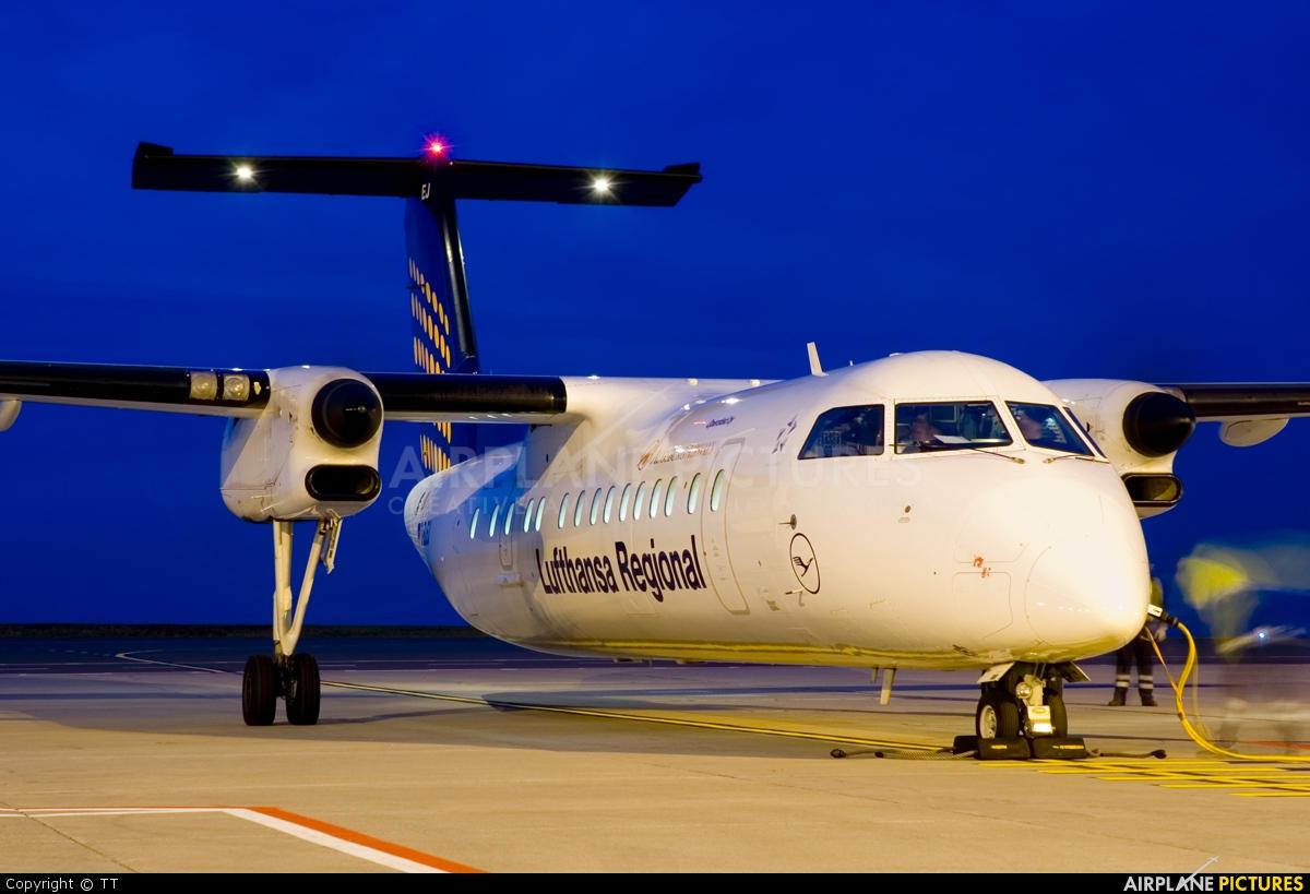 Augsburg Airways - Lufthansa Regional D-BLEJ aircraft at Dortmund - Wickede