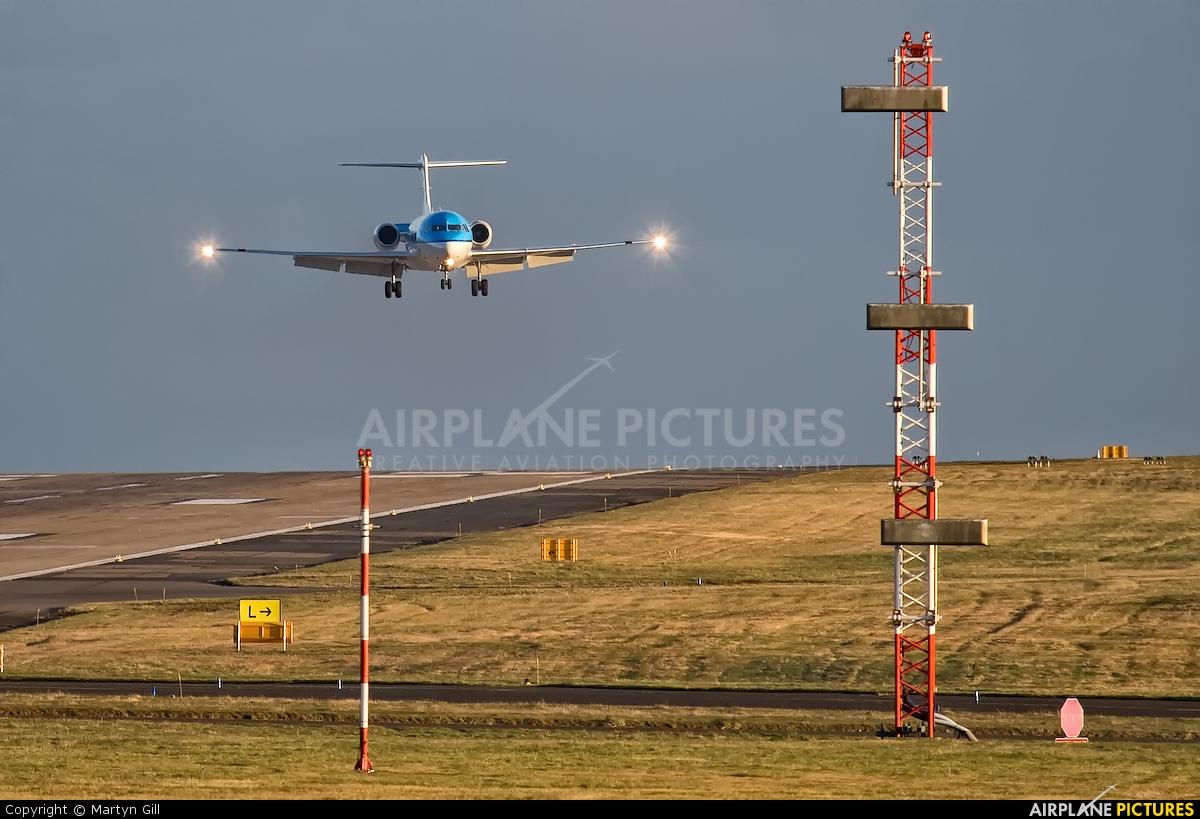 KLM Cityhopper PH-KZU aircraft at Leeds Bradford
