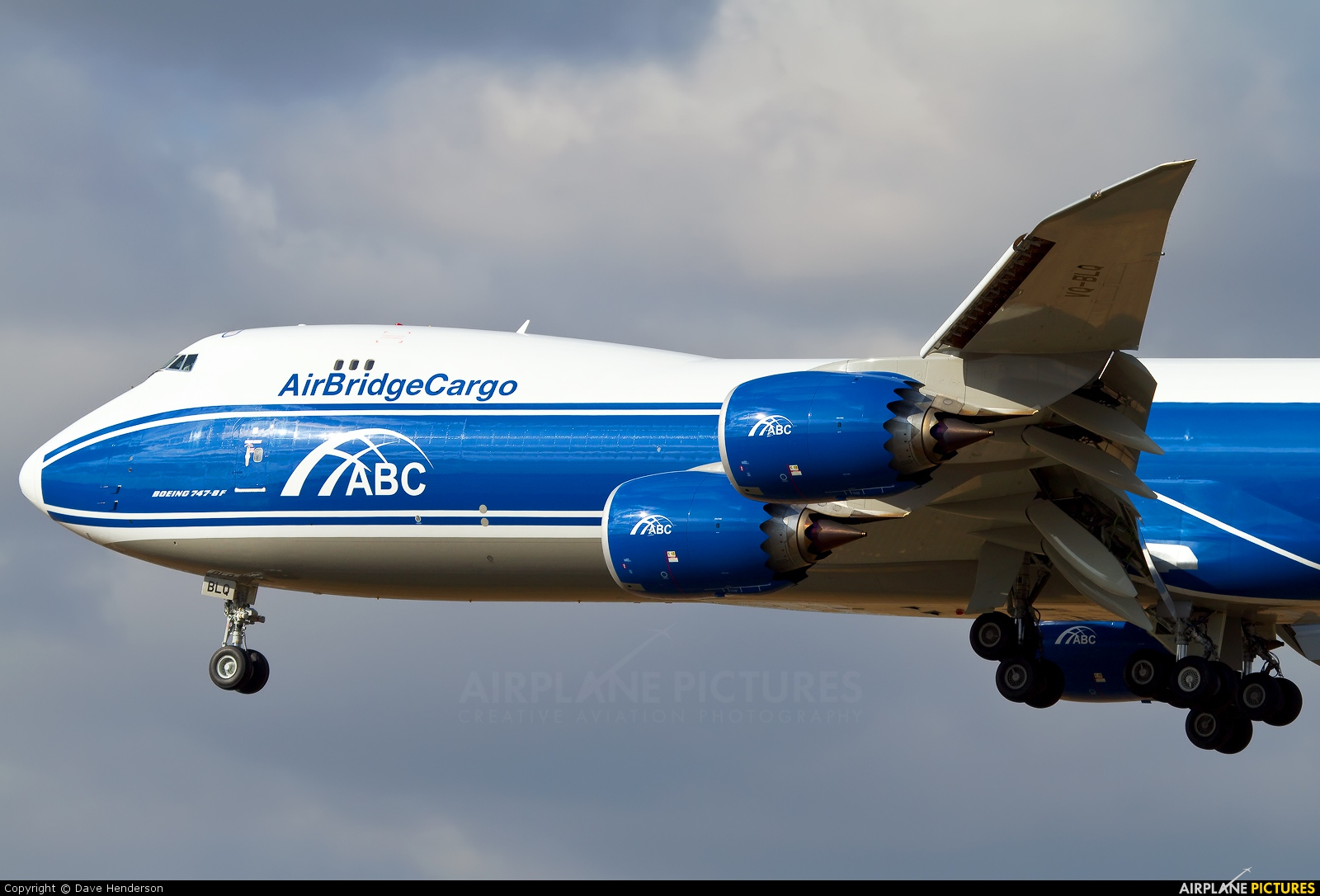 Air Bridge Cargo VQ-BLQ aircraft at Frankfurt