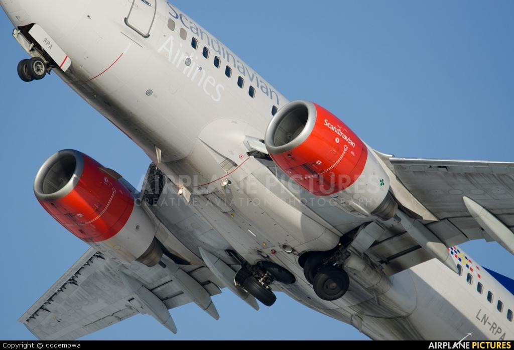 SAS - Scandinavian Airlines LN-RPA aircraft at Innsbruck